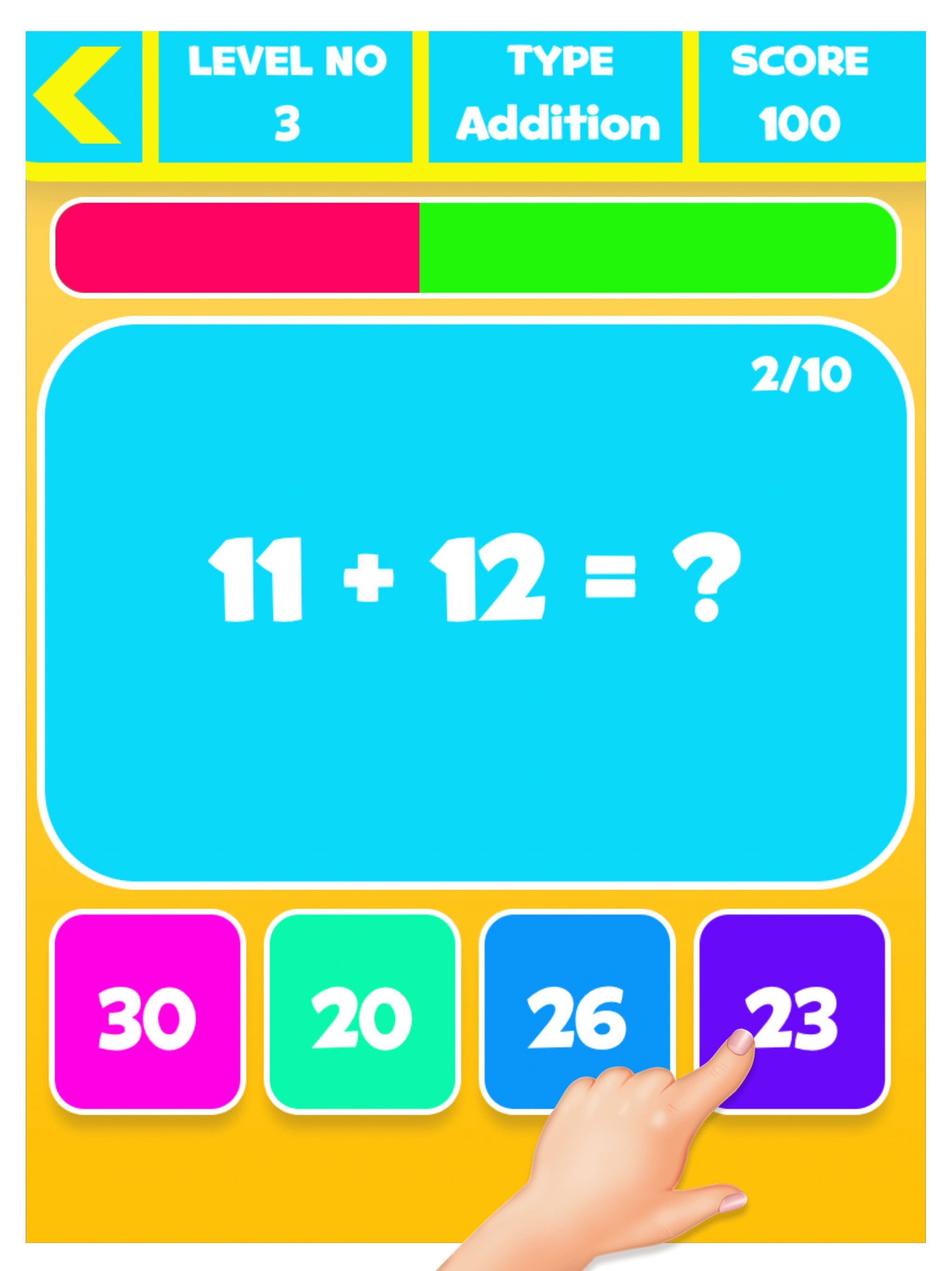 Preschool Maths Game - Speed Maths Test - mFinity InfoTech | Mobile ...